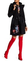 Desigual Double Breasted Floral Trench Coat