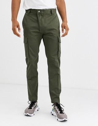 Diesel P-Jared slim fit cargo trousers in khaki-Green