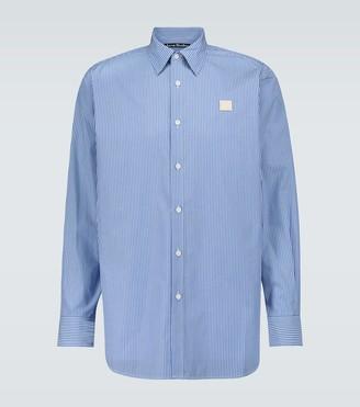 Acne Studios Saco Face striped cotton Oxford shirt