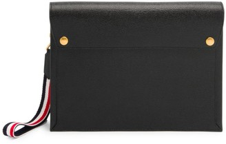 Thom Browne Large Leather Envelope Clutch