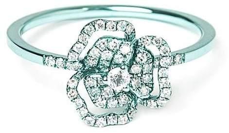 As 29 As29 diamond flower ring