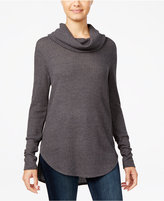 Ultra Flirt Juniors' Cowl-Neck Waffle-Knit Tunic