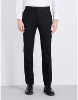 Lardini Satin-trimmed Tailored-fit Wool Trousers