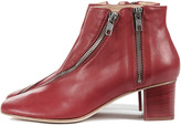Acne Marlie Zippered Boot Red