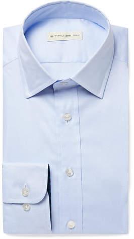 Etro Light-Blue Slim-Fit Cotton Shirt