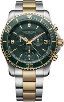 Victorinox Men's Chronograph Maverick Two-Tone Stainless Steel Bracelet Watch 43mm 241693