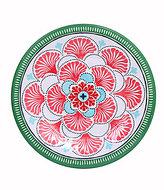 Southern Living Flower Petal Melamine Salad Plate