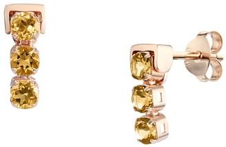 Tsai X Tsai San Shi Citrine Stud Earrings, 18 Ct Rose Gold Vermeil