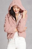 Forever 21 FOREVER 21+ Hooded Faux Fur Jacket
