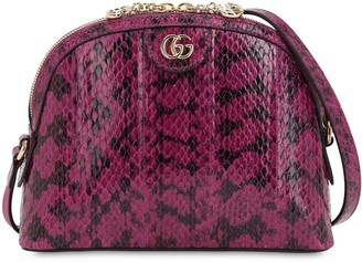 Gucci Ophidia Snakeskin Shoulder Bag