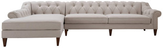 Jennifer Taylor Alexandra Chesterfield Tufted Left-Facing Sectional Sofa w/ Chaise, 13