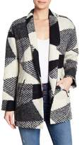 ASTR the Label Brooke Plaid Print Wool Blend Coat