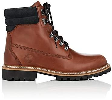 Timberland Men's BNY Sole Series: Burnished Leather Lace-Up Boots - Dk. brown