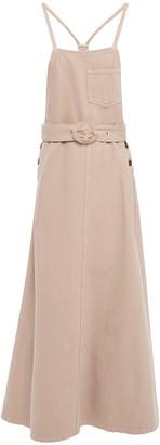 Nanushka Estelle Belted Denim Midi Dress