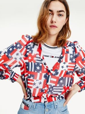 Tommy Hilfiger Stars And Stripes Recycled Polyester Shirt