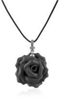 Hand Made Rose Sterling Silver Pendant w/Lace