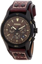 Fossil Men's Coachman Chronograph Leather Strap Watch