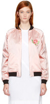 Opening Ceremony Ssense Exclusive Reversible Pink Satin Varsity Bomber Jacket