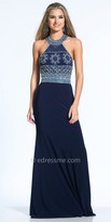 Dave and Johnny Keyhole Back Rhinestone Embellished Prom Dress