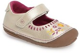 Stride Rite Infant Girl's Atley Flower Embroidered Mary Jane