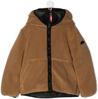 Ai Riders On The Storm Young Faux-Shearling Hooded Jacket