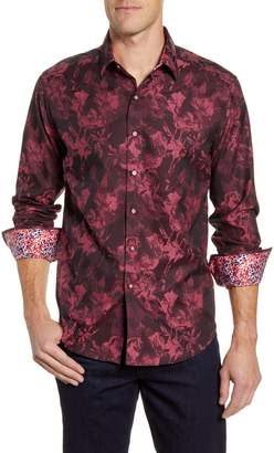 Robert Graham Rose Classic Fit Button-Up Sport Shirt