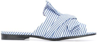 Marc Cain striped bow sandals