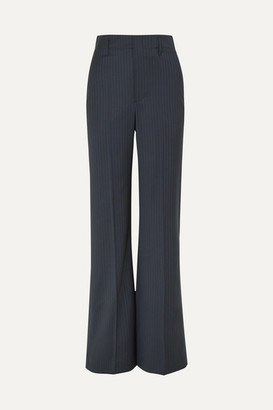 Joseph Ido Pinstriped Wool-blend Straight-leg Pants - Navy