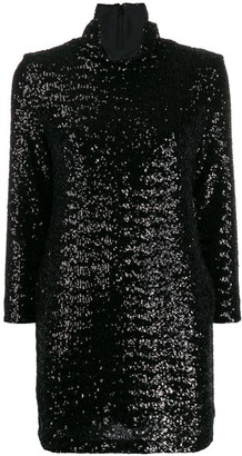 Fabiana Filippi Roll-Neck Sequined Mini Dress
