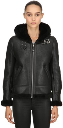 Schott LCW 1257 HOODED LEATHER AVIATOR JACKET