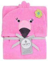 Carter's Flamingo Puppet Towel - Pink