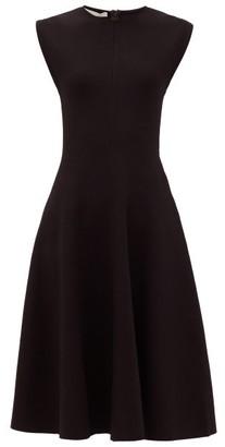 Stella McCartney Flared Stretch-jersey Dress - Womens - Black