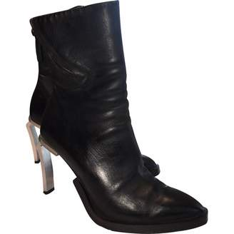 Cinzia Araia \N Anthracite Leather Ankle boots