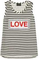 Scotch & Soda Stripped AppliquE Tank
