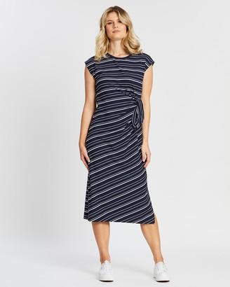 Sportscraft Selma Midi Stripe Dress