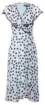 Dorothy Perkins Womens Billie & Blossom Black Label Blue Spot Print Ruffle Midi Dress, Blue