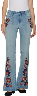 G.I.L.I. Got It Love It G.I.L.I. Regular Flare Leg Jean with Embroidery