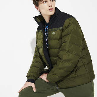 Lacoste Men's SPORT Color-Blocked Water Resistant Quilted Jacket