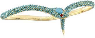 Noir Gold and Turquoise Color Indigo Palm Cuff