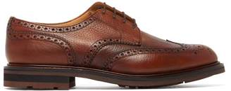 Church's Claverton Grained-leather Derby Brogues - Mens - Brown