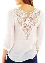 JCPenney by&by Textured Woven Blouse