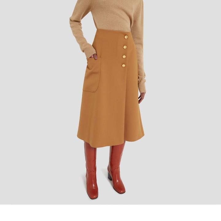 Mulberry Hetty Skirt Camel Cavalry Twill