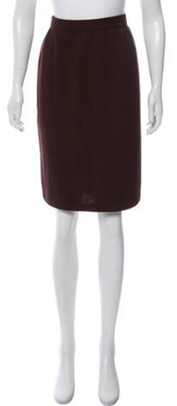 St. John Knee-Length Casual Skirt Brown Knee-Length Casual Skirt