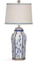 Bassett Mirror Bamboo Vase Table Lamp, Blue/White