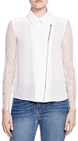 The Kooples Lace-Sleeve Shirt