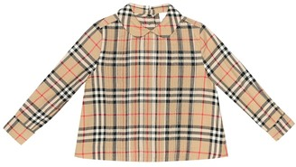 BURBERRY KIDS Check cotton top