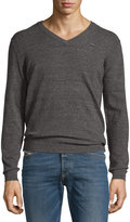 Diesel Knit V-Neck Sweater, Smoke Gray