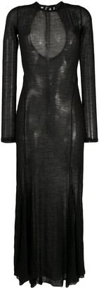 Ann Demeulemeester Semi Sheer Maxi Dress