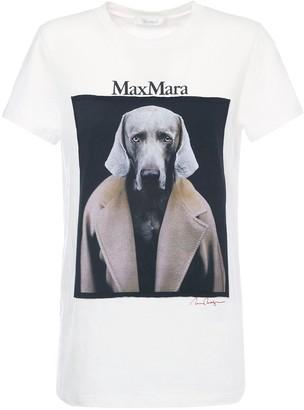 Max Mara Logo Print Cotton Jersey T-shirt