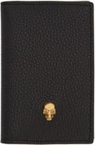Alexander McQueen Black Skull Pocket Organizer
